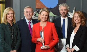 Ultimate Marketer winner, Fiona Dawson, with from L to R Sandra Lawler, Alternatives, Michael Cullen, Marketing.ie, Fiona Dawson, Mars, Bill Heague, Mars, Bernie Koegh, Alternatives